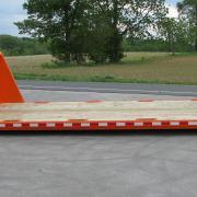 Hooklift/Rolloff Flatbed with wood floor